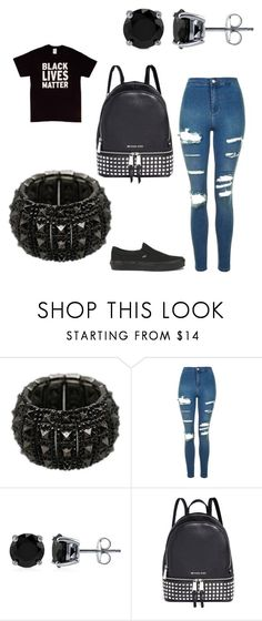 """""""Black Lives Matter"""" by bossayo2000 ❤ liked on Polyvore featuring Topshop, BERRICLE, Michael Kors and Vans"""