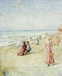 La Plage, Ostende by Alfred Stevens