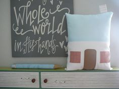17 Blushing Ave - House Pillow - Nursery - Decorative Pillow - SALE