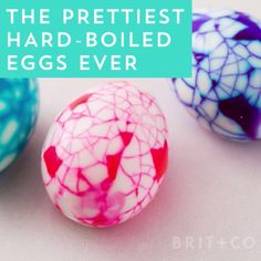 Watch this DIY video to learn how to make the prettiest hard boiled eggs ever.