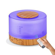 Essential Oil Diffuser – 500ML Ultrasonic Aroma Cool Mist Diffuser Wood Base with Remote Control with 7 Color Light Changing and 4 Timer Settings for Office Home Bedroom Baby Room Review