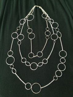 PREMIER DESIGNS JEWELRY 3 Chain Silver Circles Long Necklace https://t.co/DWKdo5yqo6 https://t.co/TeuipS9Mx3