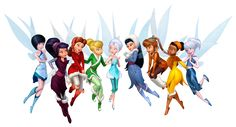 Tinkerbell and Fairies PNG Clipart