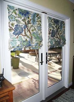 French Door Roman Shades Pictures | Terrell Designs