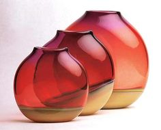 """Desert Sands""  Art Glass Vessel  Created by David New-Small"