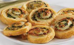 Pepperidge Farm® Puff Pastry - Recipe Detail - Spinach-Cheese Swirls