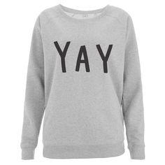 Yay oversized grey sweater!
