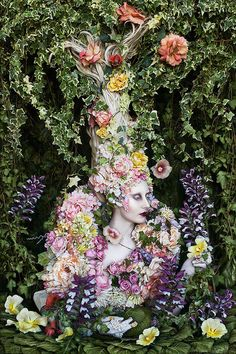 "❀ Flower Maiden Fantasy ❀ women & flowers in art fashion photography - ""The Secret Locked In The Roots Of A Kingdom"" by Kirsty-Mitchell"