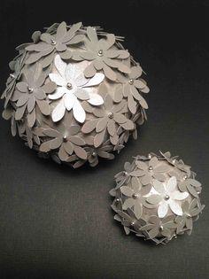 Blomsterkugler i sølv