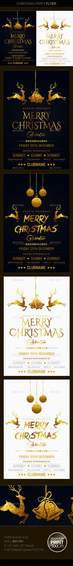 Merry Christmas Party Flyer Template PSD #design Download: http://graphicriver.net/item/christmas-party/13687084?ref=ksioks