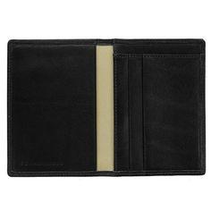 """Sonnenleder """"Inn"""" Naturally Tanned Leather Card Case, Black"""