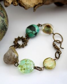 Vintaj - B0123 - Lampwork Montage Bracelet LOVE the lampwork beads!