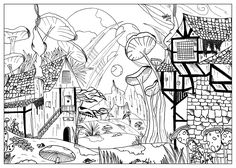 Myths and Legends have always fascinated and inspired many books, films, TV series ...   We refer of course to werewolves and vampires, Dragons, witches, but also a lot other imaginary creatures and more or less terrifying, that you can now find in these few difficult coloring pages for adults.