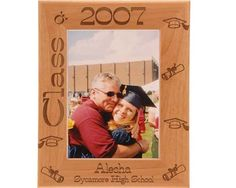Looking for that perfect graduation gift for a loved one? This personalized graduation frame is the ideal way for your loved one to remember their accomplishment. This engraved Alderwood frame from Gift Works Plus is personalized with graduate's name, y Graduation Picture Frames, Graduation Pictures, Graduation Gifts, High School, Names, In This Moment, Ideas, Grammar School, High Schools