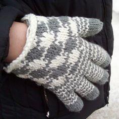 houndstooth glove knitting pattern