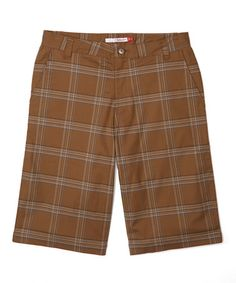 Loving this Coffee Check Wesley Organic Cotton Shorts - Men's Regular on #zulily! #zulilyfinds
