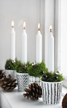 #Christmas table setting with candles DIY