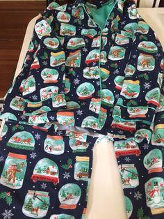 Nick & Nora Flannel Pajama SET Sz L Blue SNOW GLOBES Christmas Top Pants L #NickNora #PajamaSets Christmas Tops, Christmas Scenes, Womens Pjs, Nick And Nora, Navy Blue Background, Flannel Pajamas, Wonderful Things, Pajama Set, Sock