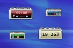 desktop clock windows 10