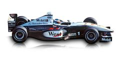 1999: McLaren-Mercedes MP4 -14:  The McLaren-Mercedes for the 1999 racing season was hard to tell apart from its predecessor, yet the MP4 -14 was a completely new car on account of the changed rules for this season. In Suzuka, in the Grand Prix of Japan, the last race of the season, Mika Häkkinen defended his World Champion's title with it.  Displacement:	V10  Maximum Output:	2998 cc (183 cu in)  Top speed:	354 km/h (220 mph)