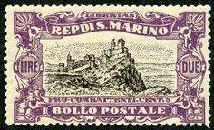 "1918 Scott B10 2 l violet & black ""View of San Marino"" Quick History The Republic of San Marino, all 24 square miles of it, is located on the north-eastern side of the Apennine Mountains on the Italian Peninsula twenty miles from the Adriatic Sea, and surrounded by Italy."