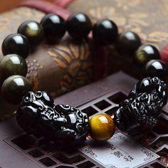 Men/'s Vitalité maux de tête protection de la Prospérité Chance Stress cristal bracelets