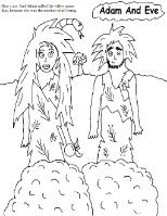 Adam and Eve Coloring Pages www.churchhousecollection.com