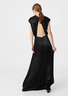 Szaténozott hosszú ruha