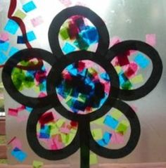 Stained glass crafts with wax paper
