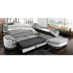 Shop for Strick & Bolton Cutler Grey/ White Sectional Sleeper Sofa. Get free delivery On EVERYTHING* Overstock - Your Online Furniture Shop! White Sectional, Sectional Sleeper Sofa, Corner Headboard, Corner Sofa, Living Room Furniture, Home Furniture, Outdoor Furniture Sets, Deco Baroque, Pull Out Sofa Bed