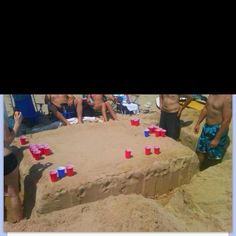 Build your own beach beer pong table!