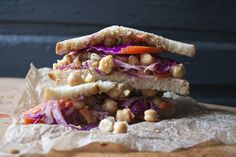 Peanut Ginger Chickpea Salad Sandwich — The Lovely Crazy