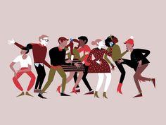 Holi-dancin' by Down the Street Designs