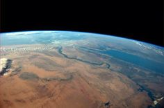 The Egyptian desert meets the Red Sea on a cloudless afternoon in this photo tweeted by first-time astronaut Reid Wiseman on June 8, 2014. Wiseman is one of six men living aboard the International Space Station. Wiseman is sharing his observations and pictures with a growing following on Twitter.