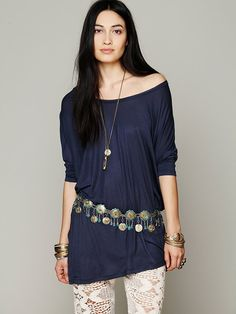 Silk Road Design Raj Metal Belt at Free People Clothing Boutique