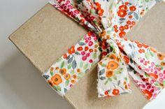 bright ribbon fabric gift wrap