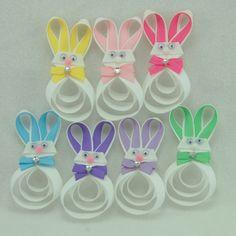 Easter Hair Bows Ideas | Easter Bunny Hair Clip - Easter Hair Bow - Bunny Ribbon ... | Craft I ...
