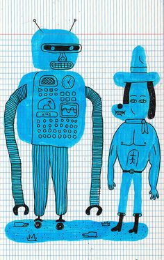 Robot and dog, Liam Barrett.