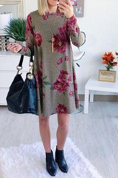 Fay Floral Sweater Dress  cuteoutfits  fallstyle  fallfashion Повседневный  Стиль На Осень 1bad013556951