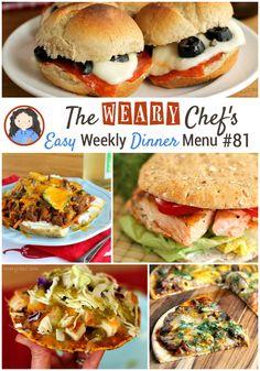 Easy Weekly Dinner Menu #81: Back to School Dinner Ideas