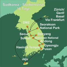 Südkorea Reise - 16 Tage von Seoul bis Jeju inkl. Tempeübernachtung und DMZ Besuch. http://www.bct-touristik.ch/ostasienreisen/korea-auf-den-spuren-der-silla.html