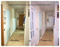Lacado de puertas Handmade y falso zócalo en blanco panelling handmade