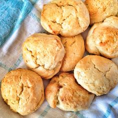 three ingredient biscuits--self rising flour, cream, sugar (optional for shortcake--leave out for savory)