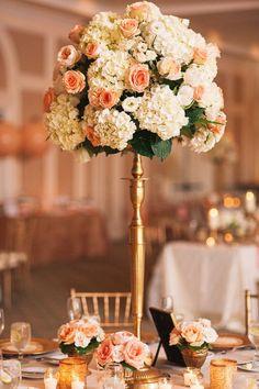 Featured Photographer: K&K Photography; Wedding reception centerpiece idea.