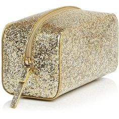 kate spade new york Glitter Bug Ezra Cosmetic Case found on Polyvore featuring beauty products, beauty accessories, bags & cases, beauty, glitter, glitter cosmetic bag, travel toiletry kit, travel bag, toiletry kits and kate spade makeup bag