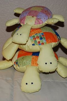 Patchwork turtle softies.