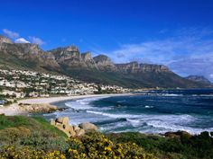 And Cape of Good Hope. And South African Wine country. van-zandbergen-ariadne-beach-at-camps-bay-cape-town-south-africa Places To Travel, Places To See, Travel Pics, Camps Bay Cape Town, Costa, Cape Town South Africa, Honeymoon Destinations, Places Around The World, Dream Vacations