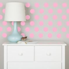 Lottie Dots Polka Dot Wall Decals (Pink) | The Land of Nod