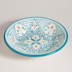 One of my favorite discoveries at WorldMarket.com: Teal Soukra Serving Bowl