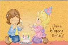 Precious Moments Birthday Card w Envelope by Dayspring Cute Birthday Wishes, Happy Birthday Quotes, Girl First Birthday, Happy Birthday Cards, Birthday Greetings, Precious Moments Quotes, Precious Moments Figurines, Sweet Pic, Kids Cards